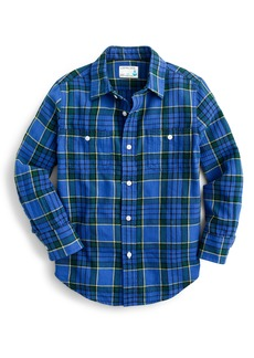 crewcuts by J.Crew Plaid Double Pocket Woven Shirt (Toddler Boys, Little Boys & Big Boys)