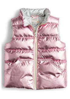 crewcuts by J.Crew PrimaLoft® Metallic Quilted Puffer Vest (Toddler Girls, Little Girls & Big Girls)