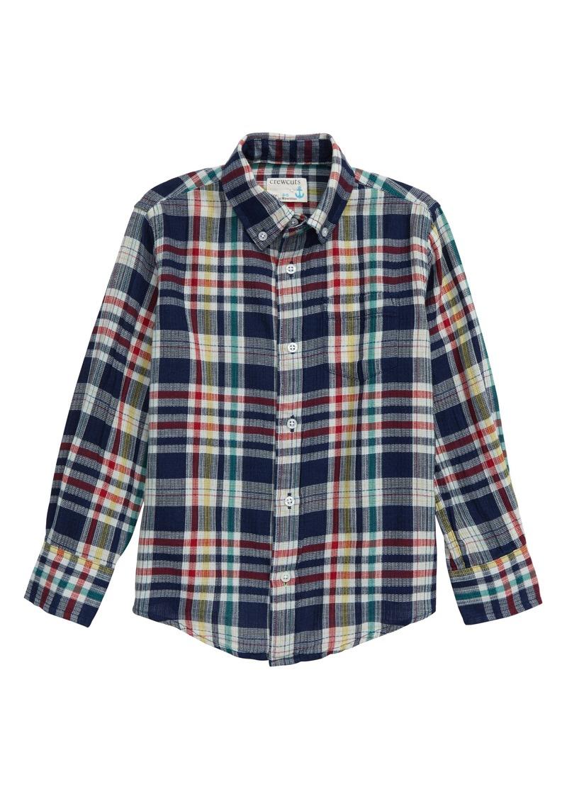 crewcuts by J.Crew Primary Plaid Button-Down Shirt (Toddler Boys, Little Boys & Big Boys)