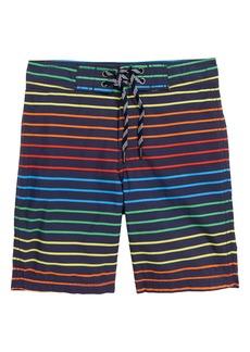 crewcuts by J.Crew Rainbow Stripe Board Shorts (Toddler Boys, Little Boys & Big Boys)