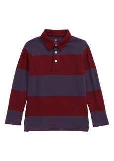 crewcuts by J.Crew Rugby Stripe Long Sleeve Jersey Polo Shirt (Toddler Boys, Little Boys & Big Boys)