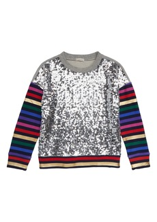 crewcuts by J.Crew Sequin Front Sweatshirt (Little Girls & Big Girls)