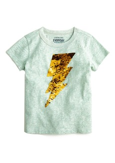 Crewcuts By J.Crew Sequin Lightening Bolt T-Shirt