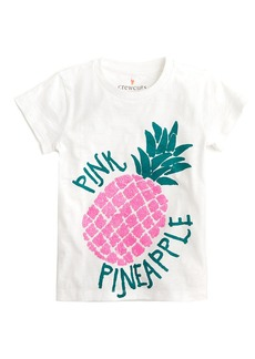 Crewcuts By J.Crew Sequin Pink Pineapple T-Shirt
