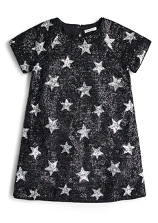 crewcuts by J.Crew Sequin Star Short Sleeve Dress (Big Girls)