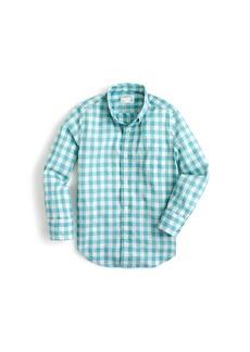 Crewcuts By J.Crew Shirt Neon Slub Gingham Shirt