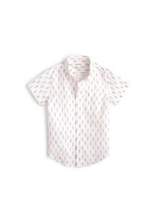 Crewcuts By J.Crew Short Sleeve Linen Cotton Shirt
