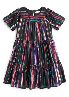 crewcuts by J.Crew Short Sleeve Tiered Dress (Toddler Girls, Little Girls & Big Girls)