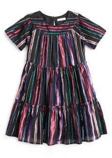 crewcuts by J.Crew Short Sleeve Tiered Dress (Toddler Girls, Little Girls & Big Girls)