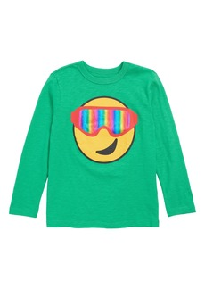 crewcuts by J.Crew Snow Goggle Emoji T-Shirt (Toddler Boys, Little Boys & Big Boys)