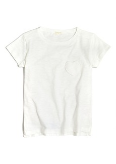 Crewcuts By J.Crew Solid Heart Pocket T-Shirt