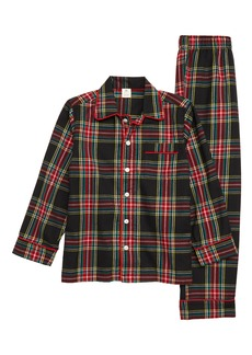 crewcuts by J.Crew Stewart Black Tartan Two-Piece Pajamas (Toddler Boys, Little Boys & Big Boys)