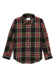 crewcuts by J.Crew Stewart Plaid Stretch Poplin Shirt (Toddler Boys, Little Boys & Big Boys)