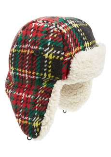 crewcuts by J.Crew Stewart Tartan Fleece Lined Trapper Hat (Big Boys)