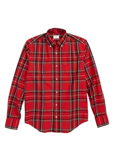 crewcuts by J.Crew Stretch Poplin Button Down Shirt (Toddler Boys, Little Boys & Big Boys)