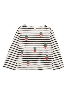 crewcuts by J.Crew Stripe Cacti Tee (Toddler Girls, Little Girls & Big Girls)