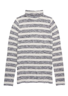 crewcuts by J.Crew Stripe Pocket Turtleneck (Toddler Girls, Little Girls & Big Girls)