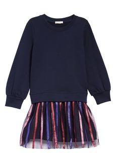 crewcuts by J.Crew Stripe Tulle Mixy Dress (Toddler Girls, Little Girls & Big Girls)
