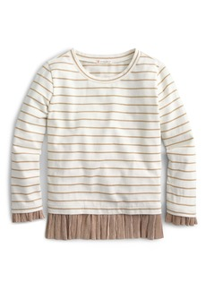 crewcuts by J.Crew Striped Long Sleeve Tee (Toddler Girls, Little Girls & Big Girls)