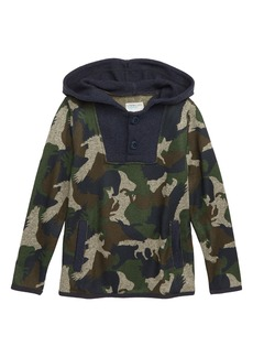 crewcuts by J.Crew Summit Fleece Button-Up Pullover (Toddler Boys, Little Boys & Big Boys)