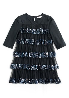 crewcuts by J.Crew Tiered Sequin & Tulle Party Dress (Toddler Girls, Little Girls & Big Girls)
