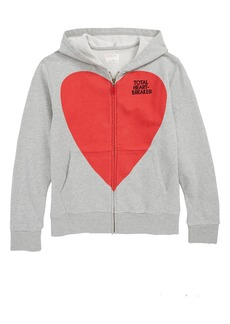 crewcuts by J.Crew Total Heartbreaker Zip Hoodie (Toddler Girls, Little Girls & Big Girls)