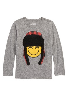 crewcuts by J.Crew Trapper Hat Emoji T-Shirt (Toddler Boys, Little Boys & Big Boys)