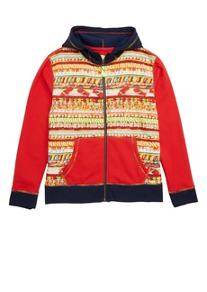 crewcuts by J.Crew x Kid Made Modern Candy Print Zip Hoodie (Toddler Boys, Little Boys & Big Boys)