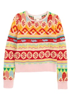 crewcuts by J.Crew x Kid Made Modern Fair Isle Sweater (Toddler Girls, Little Girls & Big Girls)