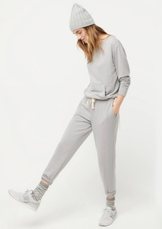 J.Crew Crewneck pocket sweatshirt in Cloud fleece