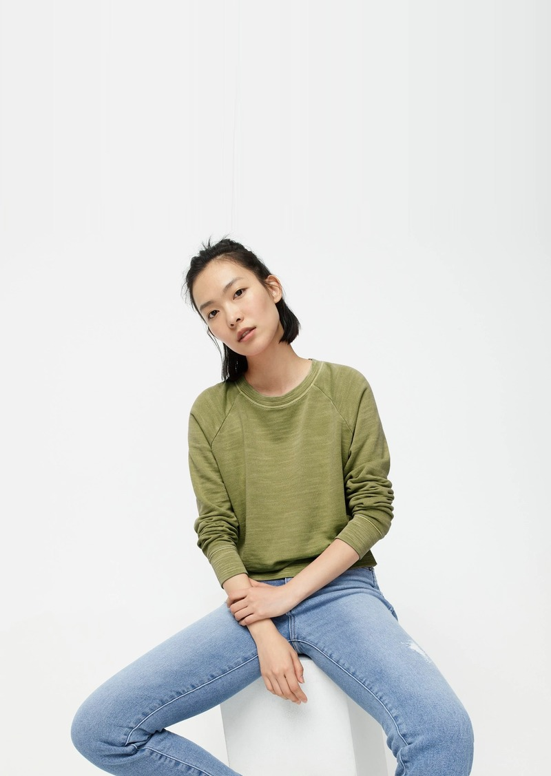 J.Crew Crewneck pullover in vintage cotton terry