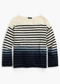 J.Crew Crewneck sweater in dip-dye stripe