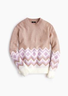 J.Crew Crewneck sweater in geometric Fair Isle