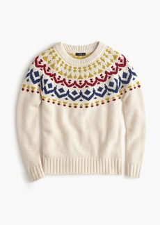 J.Crew Crewneck sweater in vintage Fair Isle