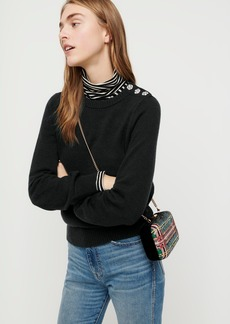 J.Crew Crewneck sweater with jeweled buttons