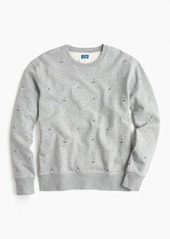J.Crew Crewneck sweatshirt in embroidered lighthouses
