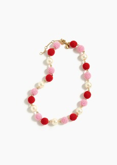 J.Crew Crochet bead necklace