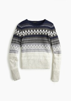 J.Crew Cropped crewneck sweater in Fair Isle