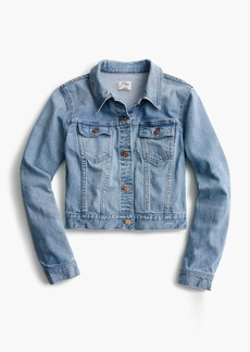 J.Crew Cropped denim jacket in Cavanal wash
