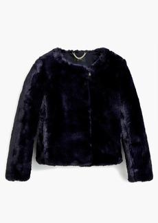 J.Crew Cropped faux-fur coat