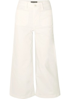 J.Crew Cropped High-rise Wide-leg Jeans