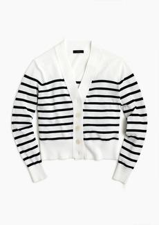 J.Crew Cropped lightweight cardigan in stripe
