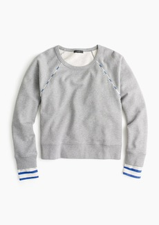 J.Crew Cropped stripe-trimmed sweatshirt