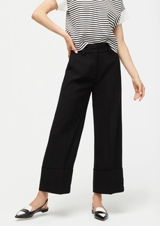 J.Crew Cropped wide-leg pant in 365 crepe