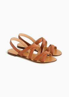 J.Crew Cross-strap sandals in leather