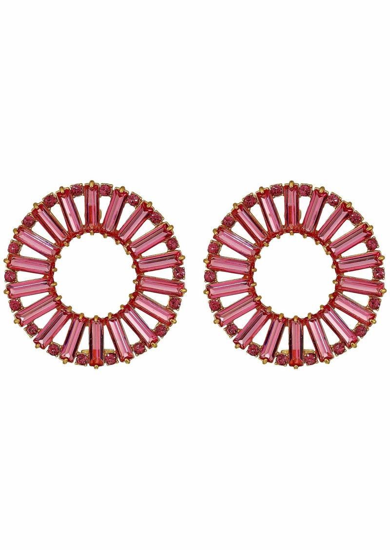 J.Crew Crystal Baguette Hoop Earrings