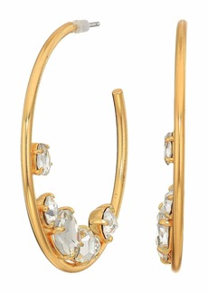 J.Crew Crystal Cluster in Hoop Earrings