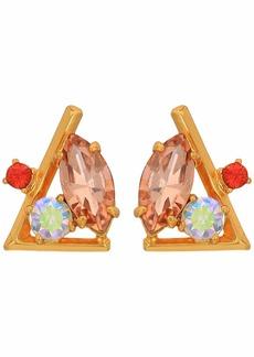 J.Crew Crystal Cluster L Stud Earrings