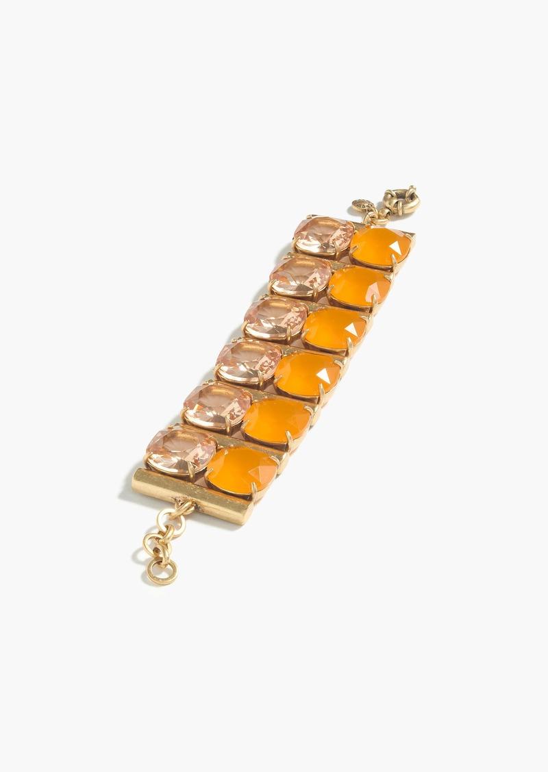 J.Crew Crystal column bracelet