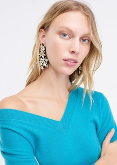J.Crew Crystal fabric-backed statement earrings